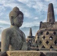 bell shaped stupas