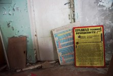 posters in Chernobyl