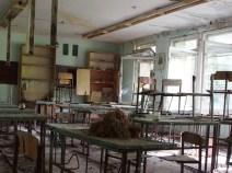 school desks Chernobyl