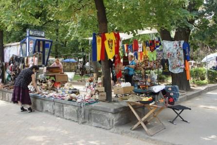 Street stalls in chisinau