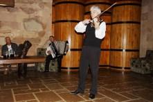 violins at wine tasting Milestii Mici