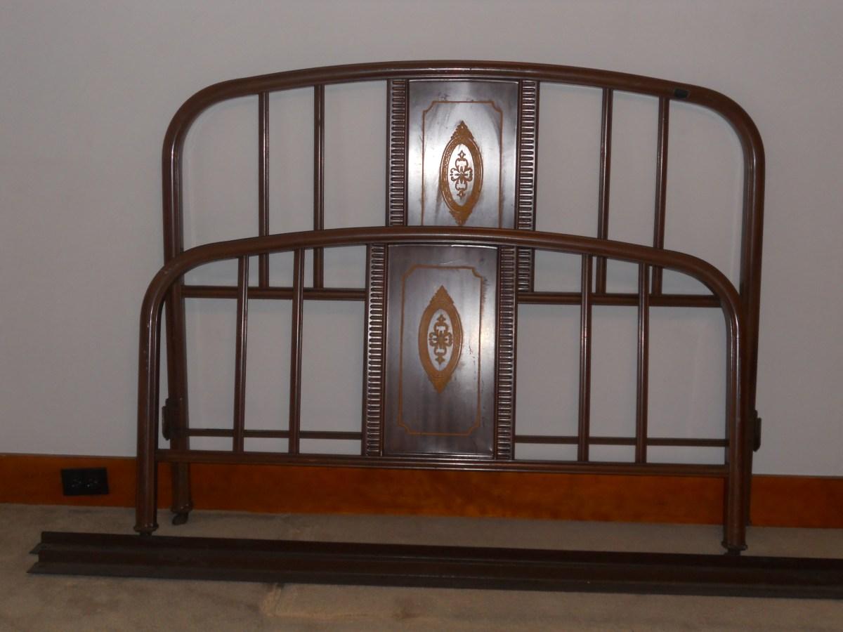 Antique Metal Bed Frame Grandmas Estate Sale