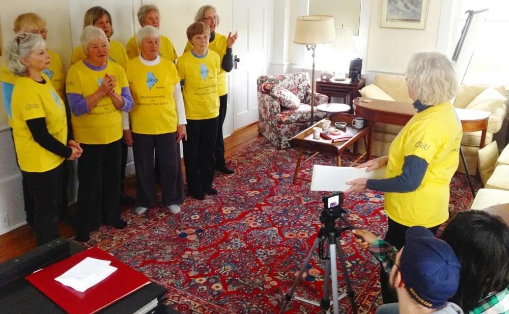 Grannies make a video
