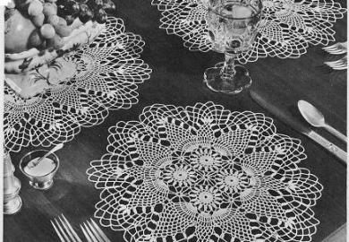 Round Table Placemats Crocheted Patterns Pinterest