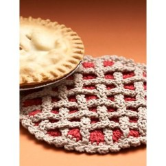 Kitchen Hot Pads Diy Countertops More Potholders And To Crochet For Your Autumn 1 Cherry Pie Pad