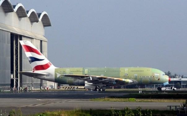 First British Airways Airbus A380