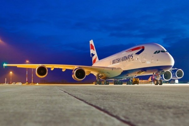 First Fully Painted British Airways Airbus A380
