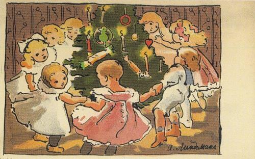 """""""Вокруг ёлки"""" А.Э. Линдеман, 1904 / ne-nai.livejournal.com"""