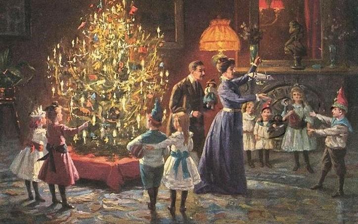 Рождественская открытка, 1902 / pinterest.com