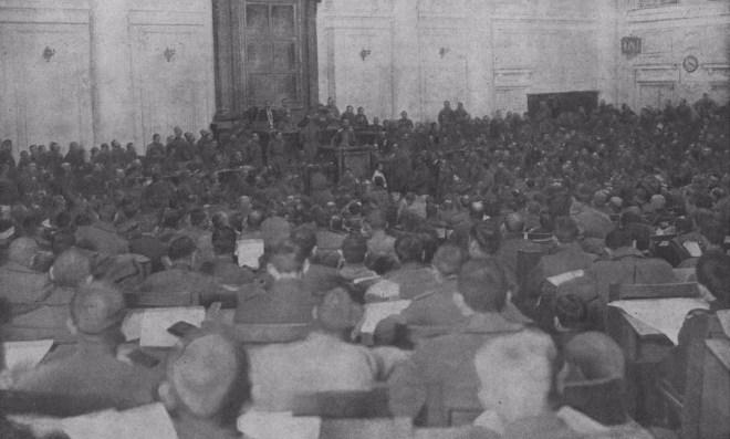 Заседание Совета рабочих и солдатских депутатов в Госдуме