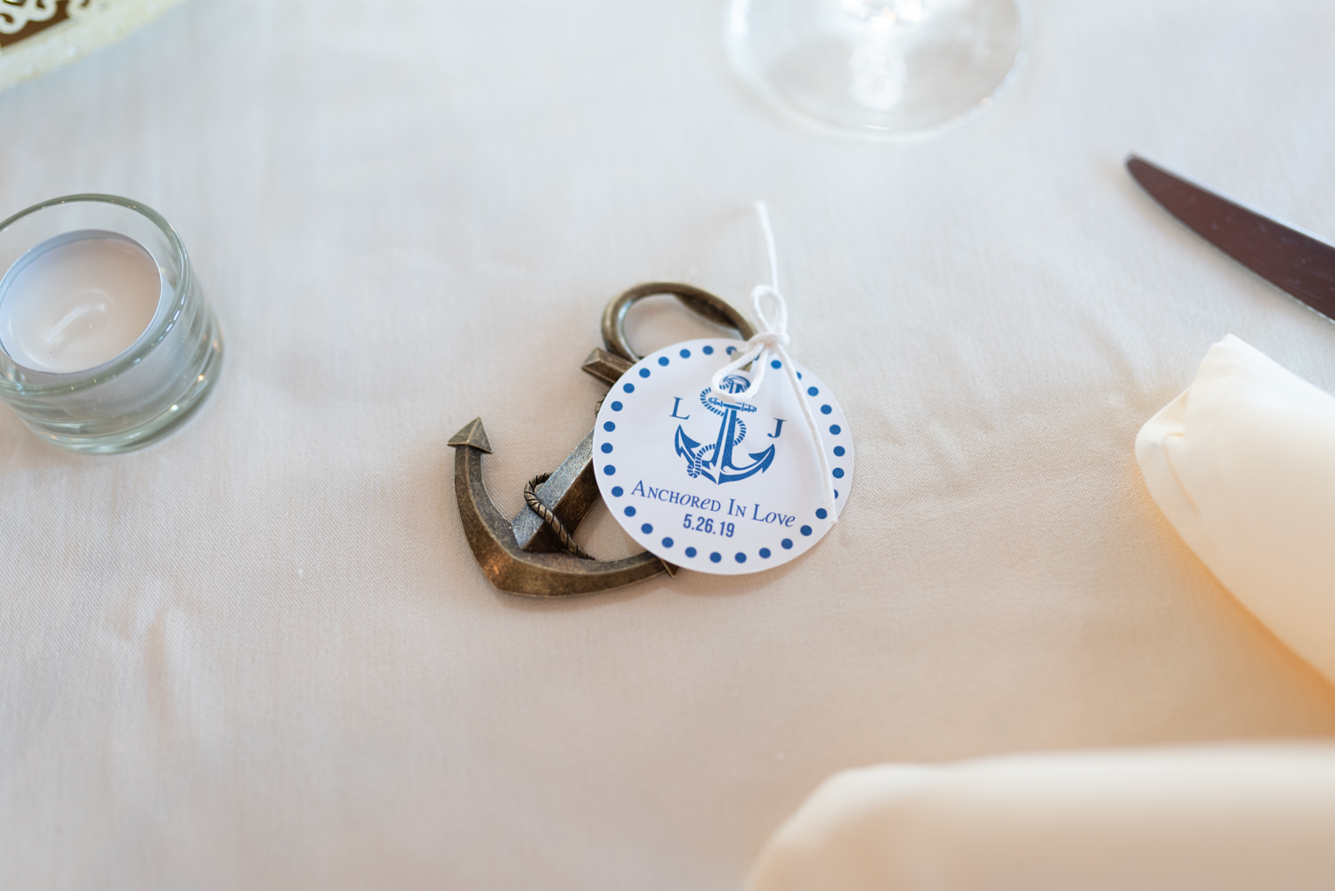 Anchored in love favors - Grande Dunes Ocean Club - Myrtle Beach