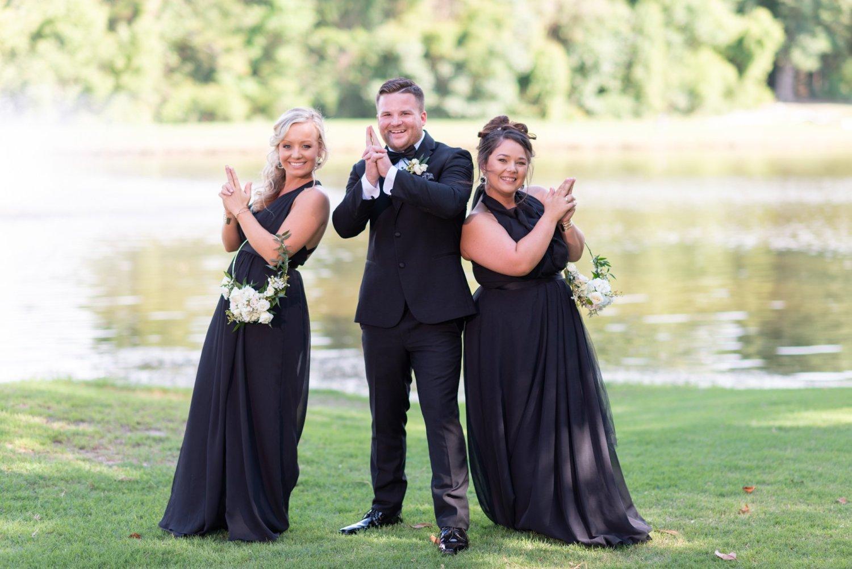 Bridesmaids doing a fun pose - Pawleys Plantation