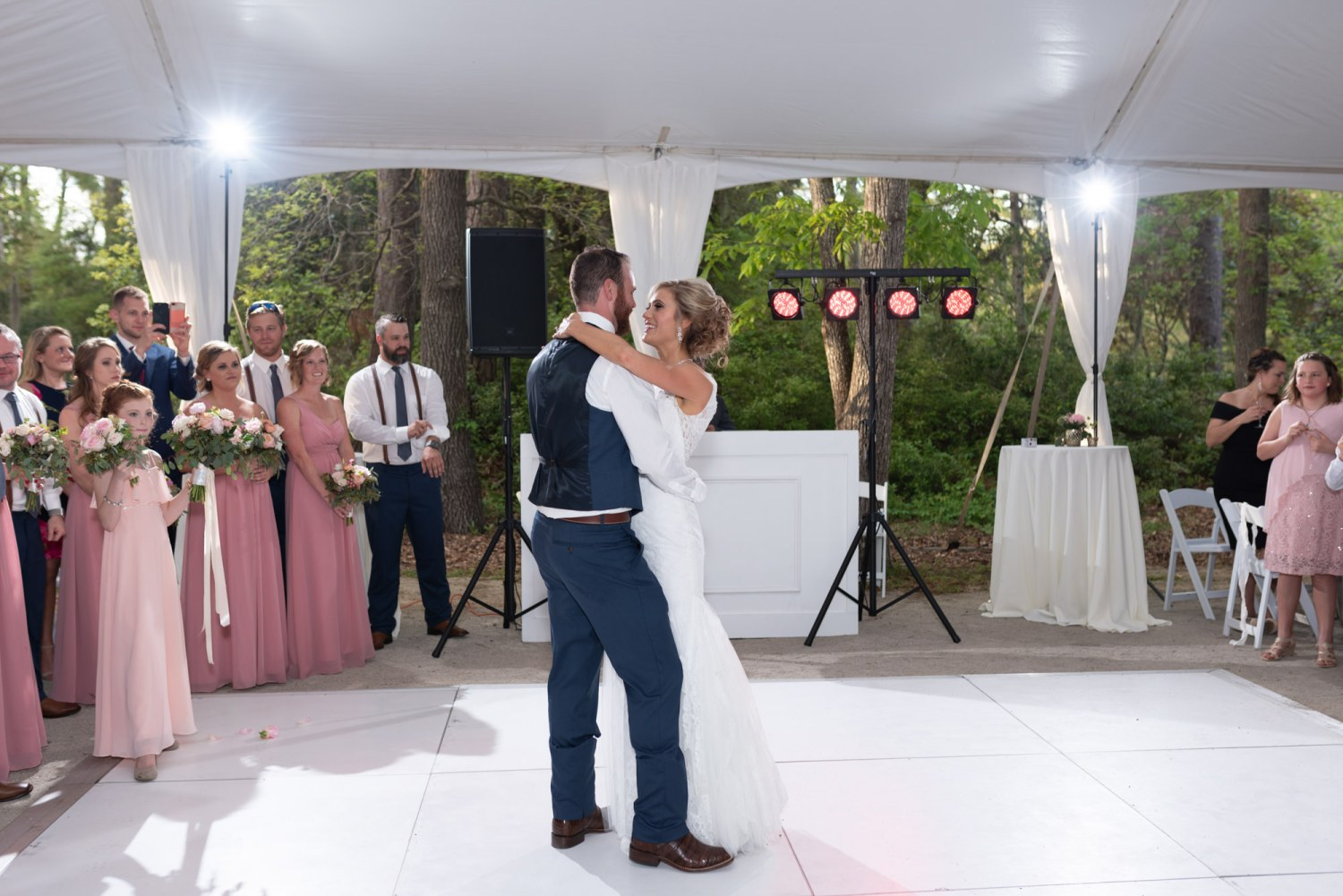 First dance with 3 light setup - Brookgreen Gardens