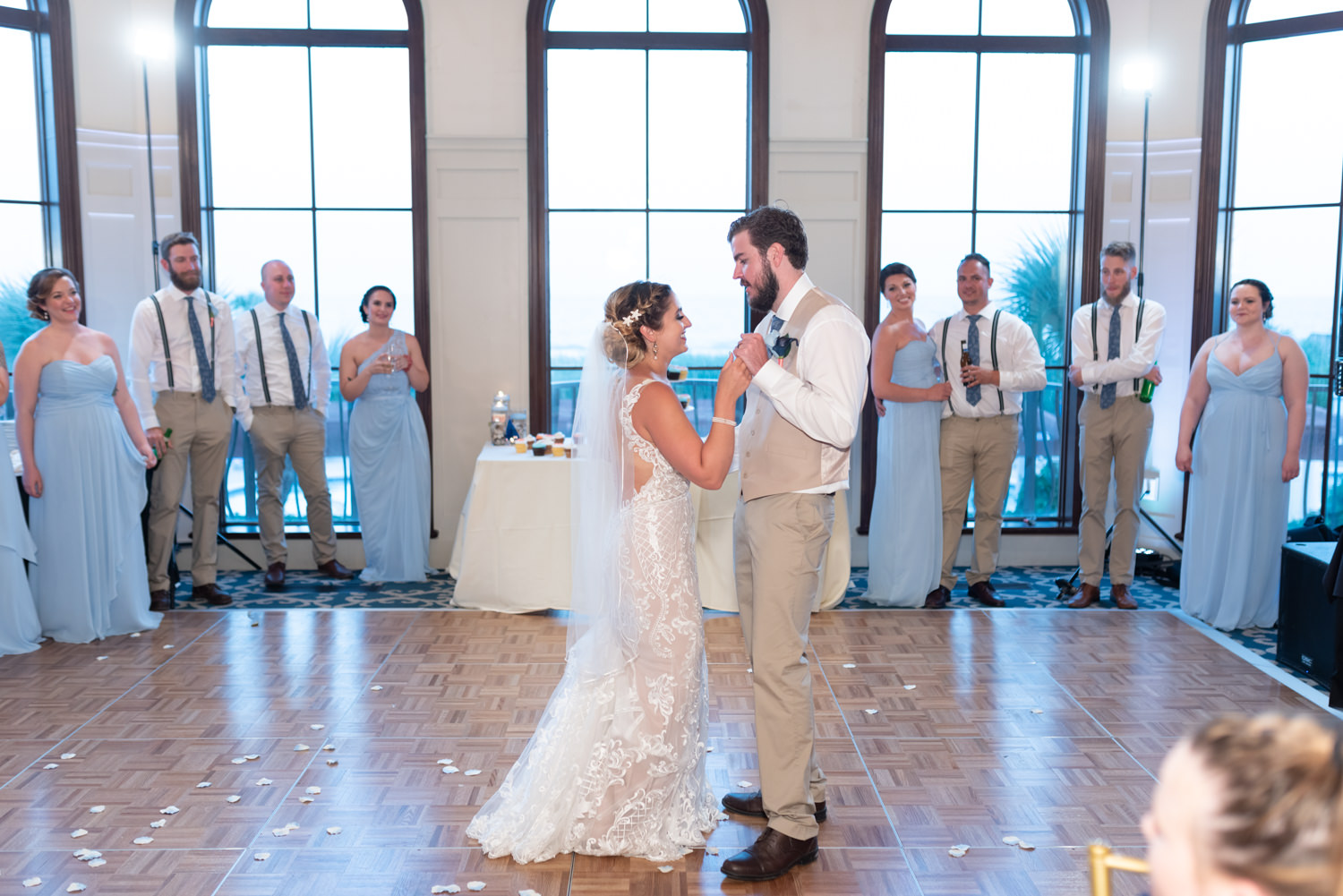 First dance with bride and groom - Grande Dunes Ocean Club - Myrtle Beach