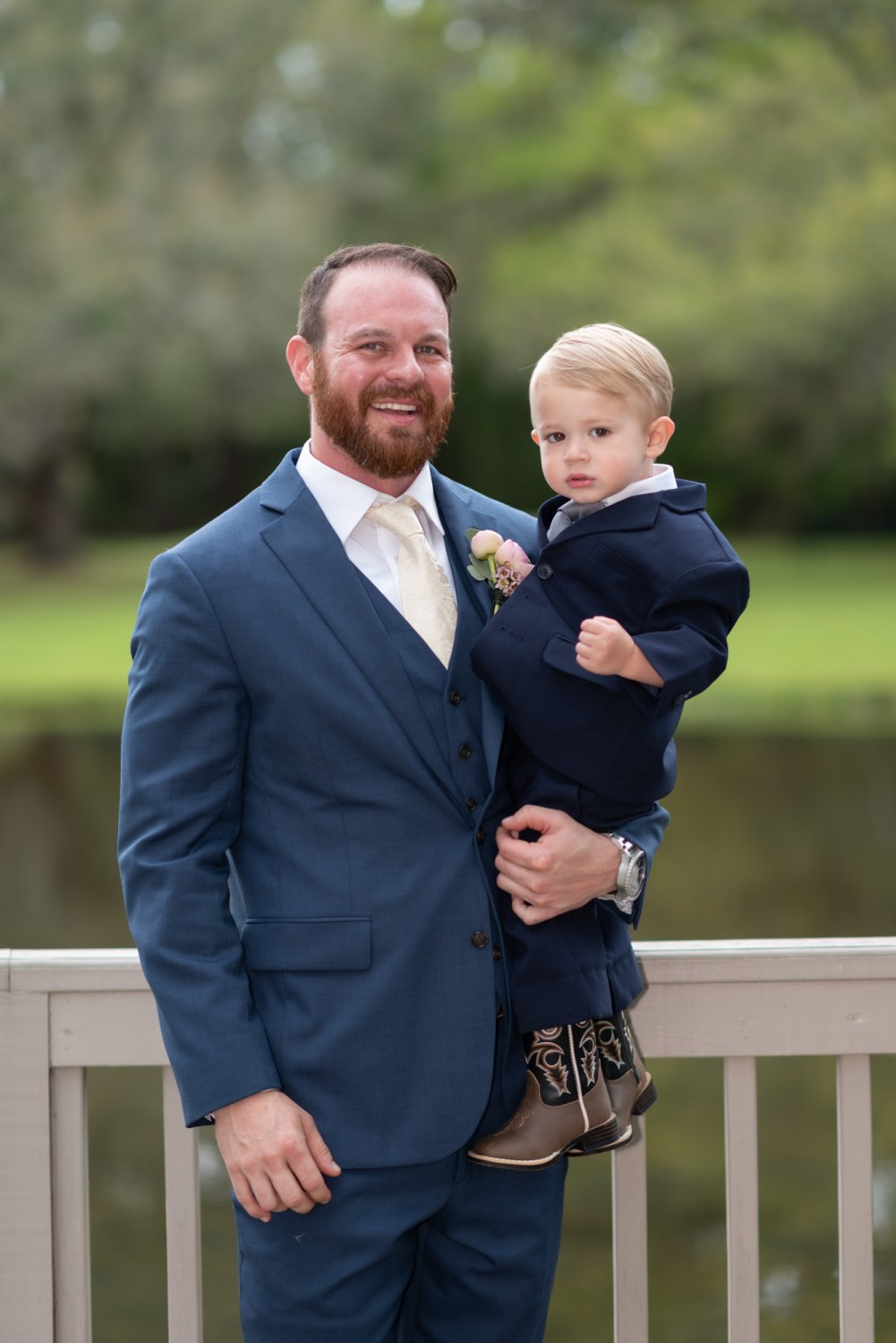 Groom with nephew - Brookgreen Gardens