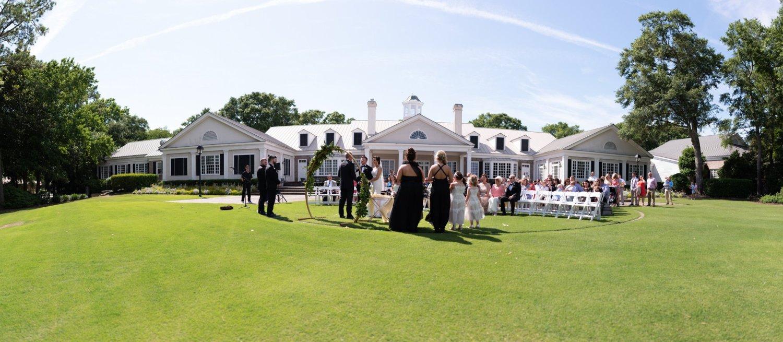 Panorama of ceremony location - Pawleys Plantation