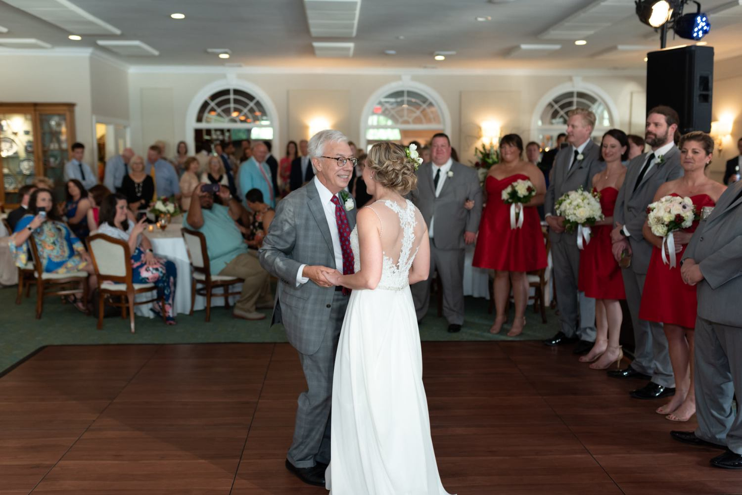 Bride dancing with her father - Wachesaw Plantation