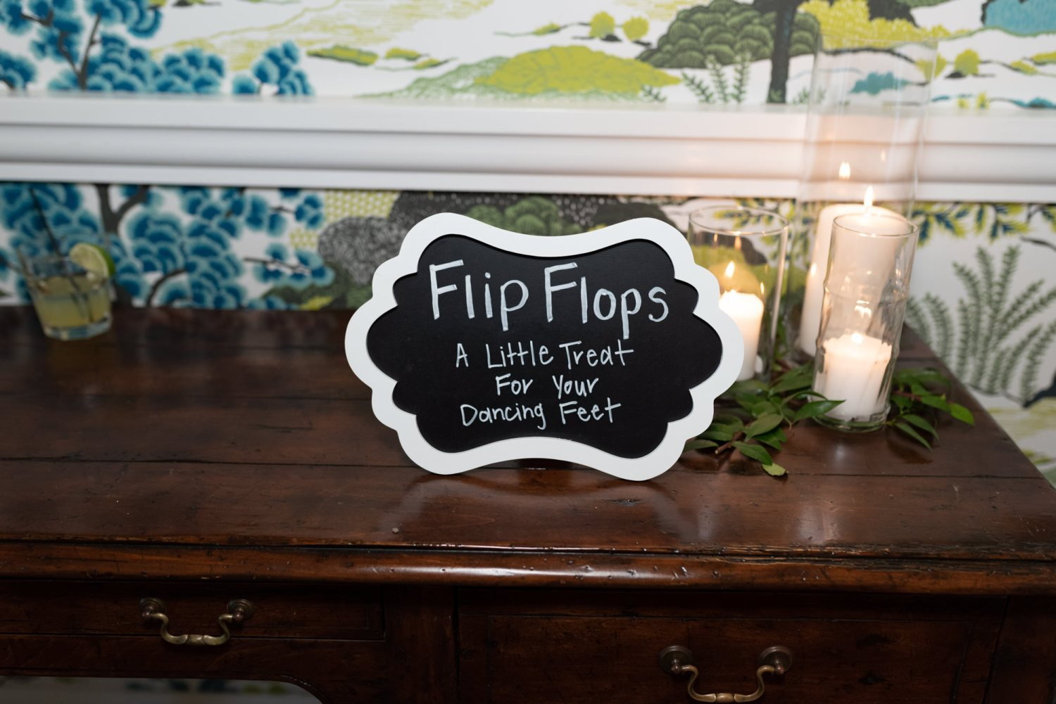Flip flops for dancing - Wachesaw Plantation