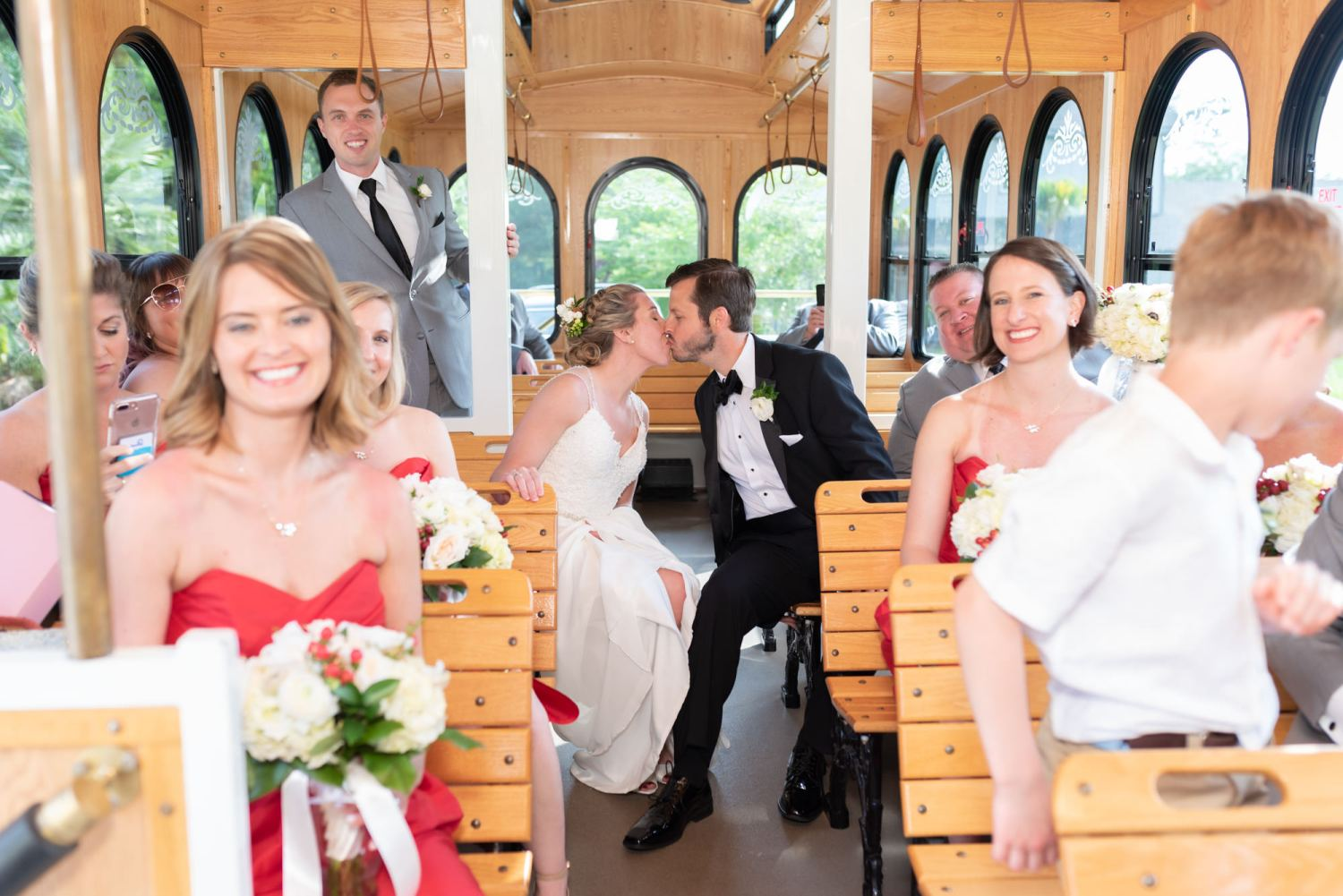 Kiss in the trolley  - Wachesaw Plantation
