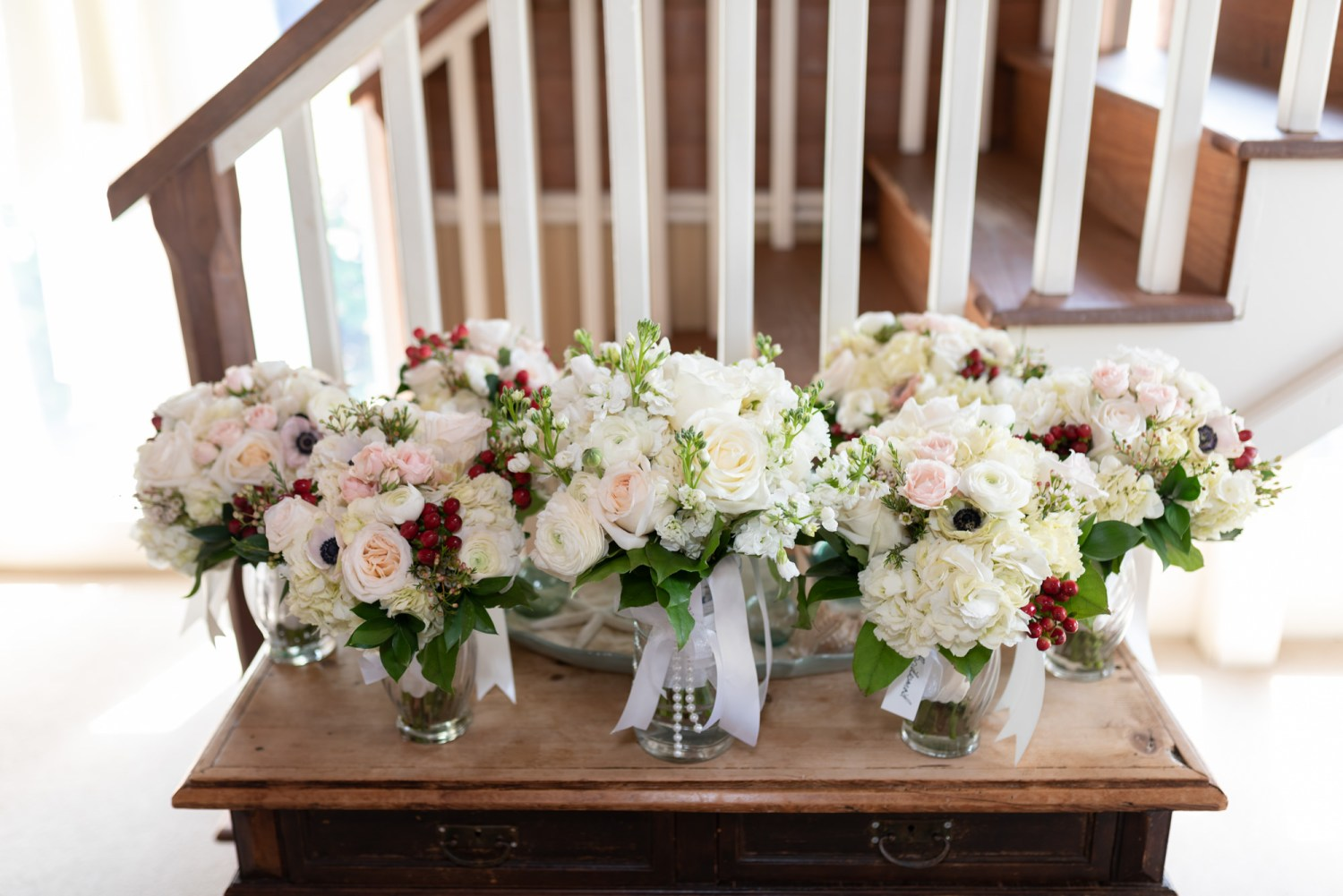 Picture of the bouquets  - Pawleys Island Community Chapel