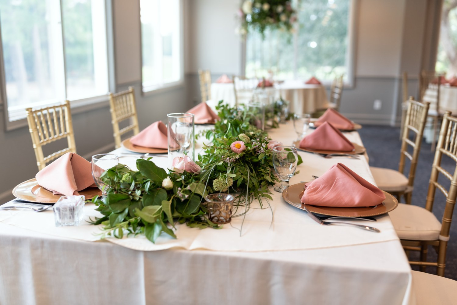 Table details flowers - Litchfield Country Club