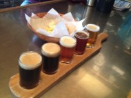 beer flight and cheese