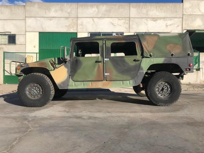 Hummer H1 Verde 2 - Alquiler de vehículos militares, alquiler de camiones de bomberos.