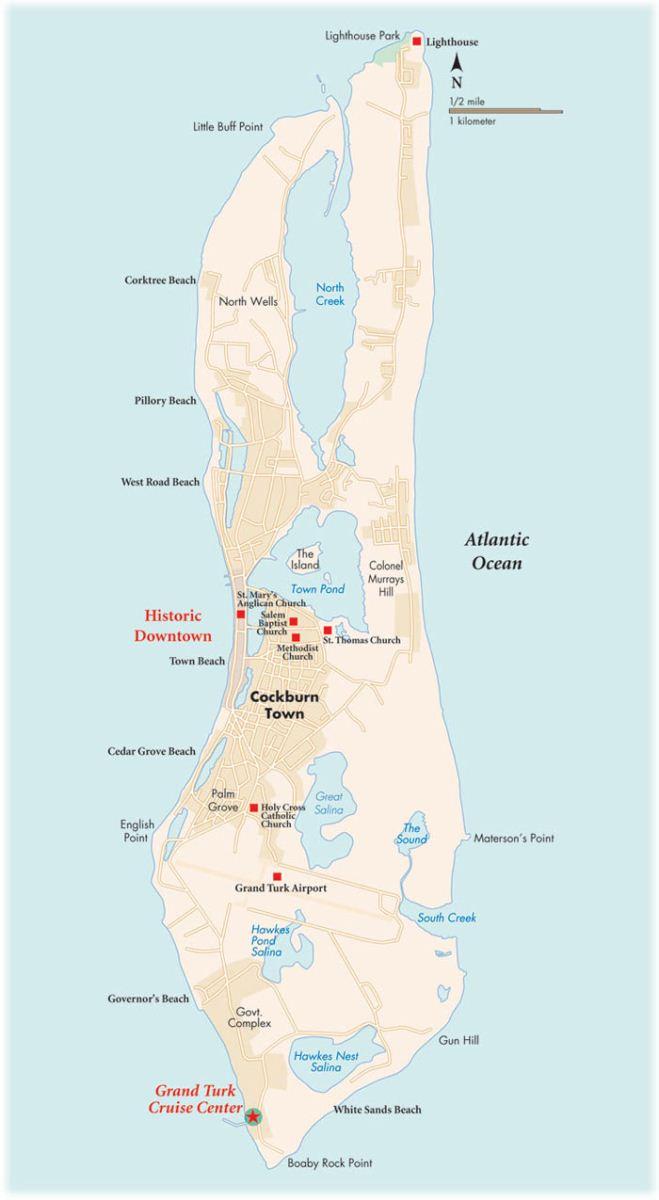 Grand Turk Cruise Port Map : grand, cruise, Grand, Island