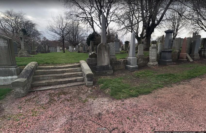 Grange cemetery Google streetview 2019