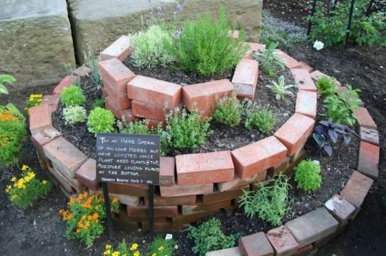 An Herb Spiral  Grange Garden