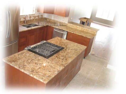 Yellow Granite Kitchen Countertops