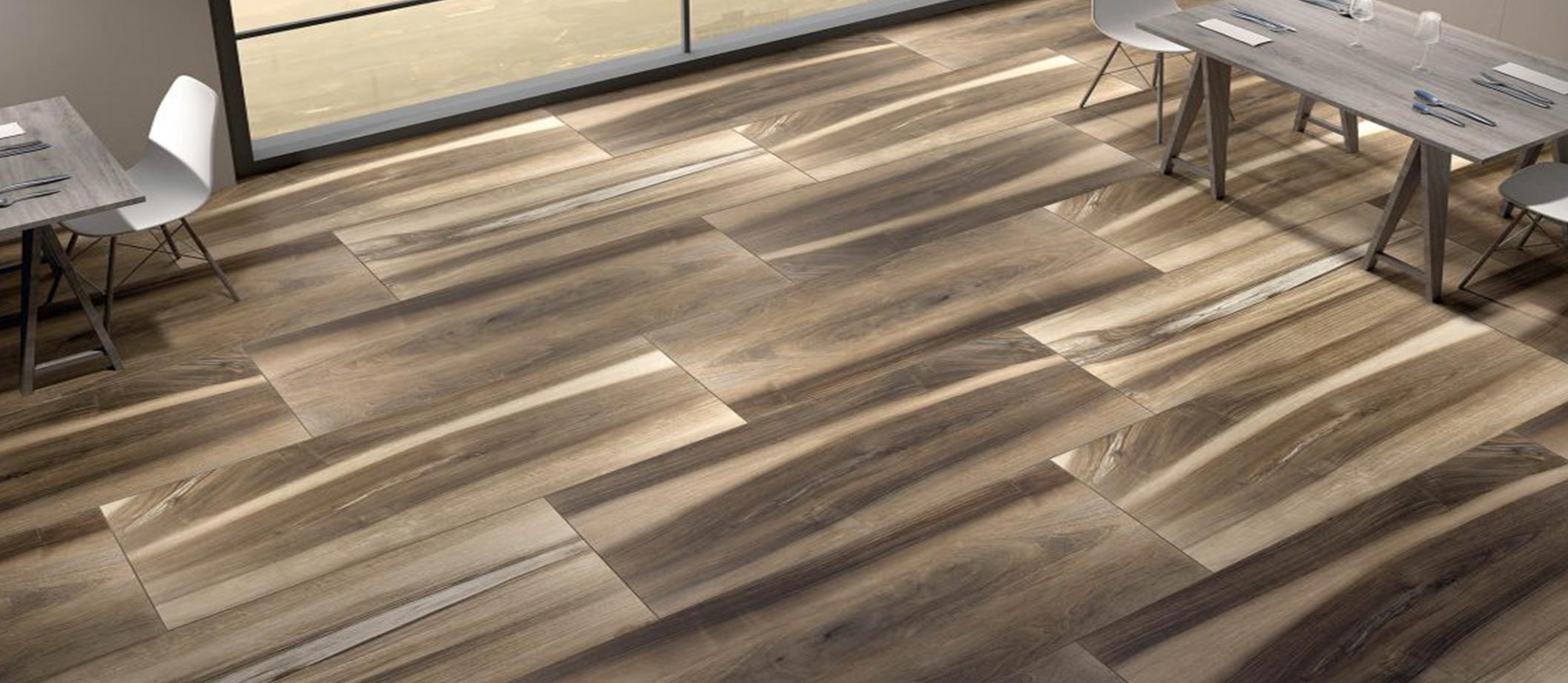 Ceramic and Granite Tiles from Cerdomus Imitates Wooden
