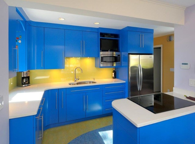 replacing kitchen countertops assembled cabinets update a with bright colors