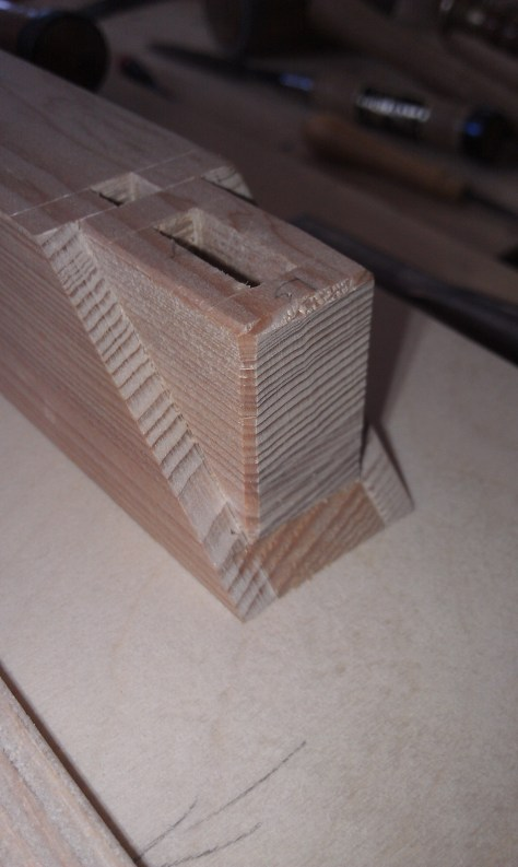 Finished boxed mortise