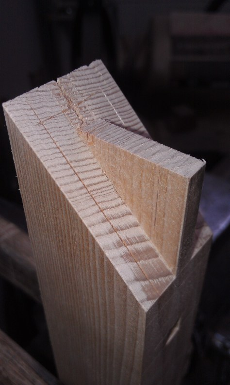 Mitered tenon layout