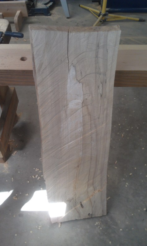 Chainsaw milled maple