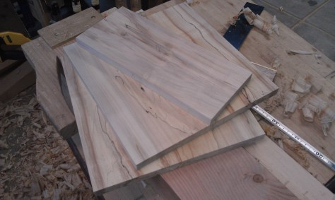 Freshly planed maple