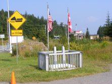 U.S./Canada border marker