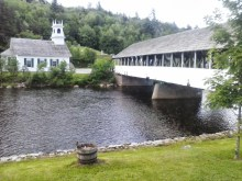 A few miles west of the Cohos Trail where it meets Route 110 is the town of Stark, with its famed covered bridge. The Stark Village Inn is a popular stop for CT thru-hikers.