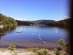 Mascoma Lake, looking west from Enfield's Main Street