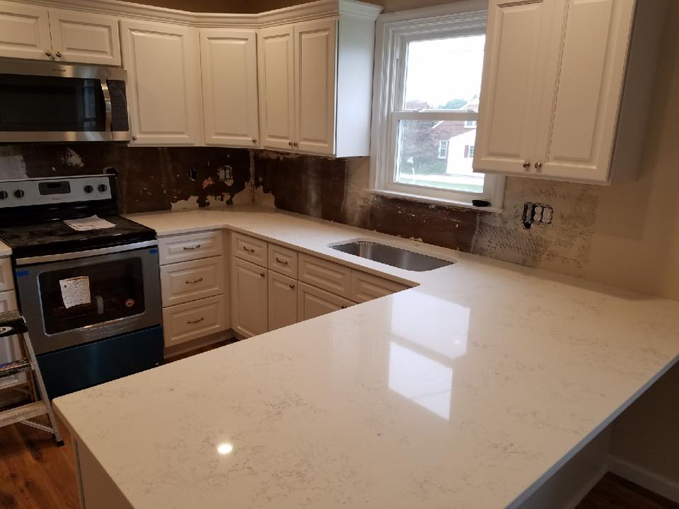 White Kitchen White Countertops