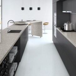 Kitchen Sinks & Faucets Organization Ideas Atlantic Salt Caesarstone Quartz - C6270 Granit Plus