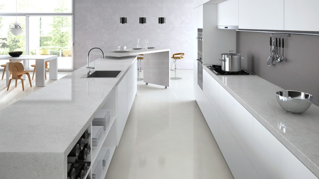 Bianco Drift Caesarstone Quartz  C6131  Granit Plus