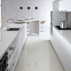 Kitchen Countertops White Cleaning Check List Bianco Drift Caesarstone Quartz - C6131 Granit Plus