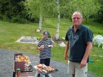 Pappa och Olle. Maj, 2003.
