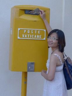 Maximina Brion at the Vatican Rome Italy