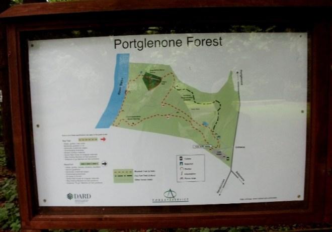 Map of Portglenone Forest