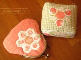 pincushion and purse made using Fig Tree fabrics