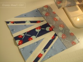 Pin and sew the flag centre piece.