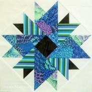 Japanese aster patchwork block